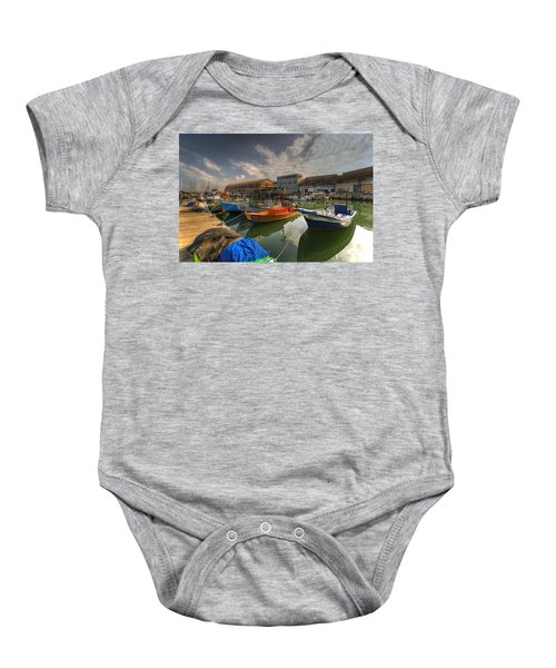 resting boats at the Jaffa port Baby Onesie