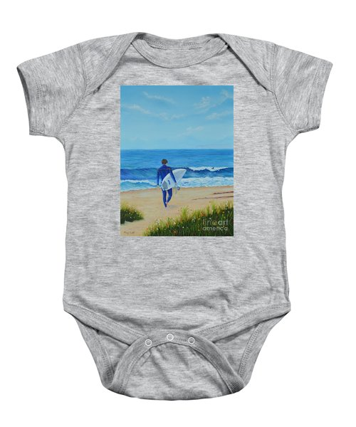 Returning To The Waves Baby Onesie