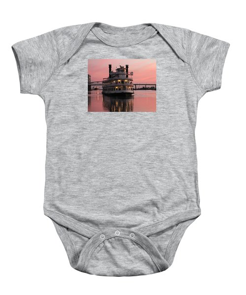 Riverboat At Sunset Baby Onesie