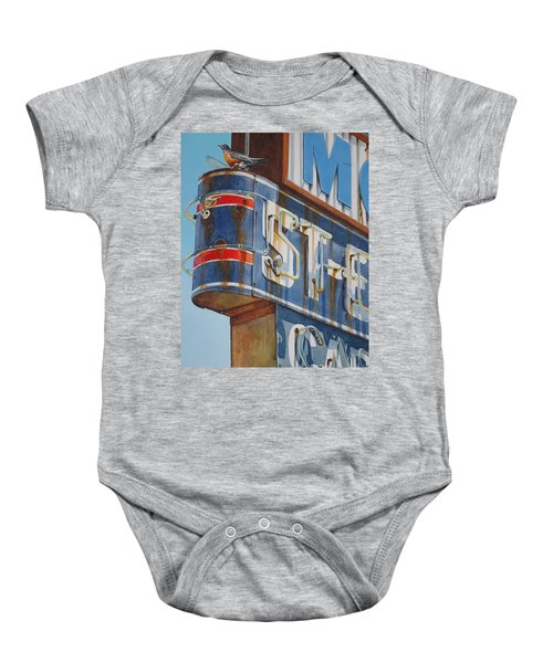 Robin And Motel Baby Onesie