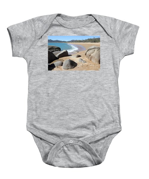 Rocks On The Beach Baby Onesie