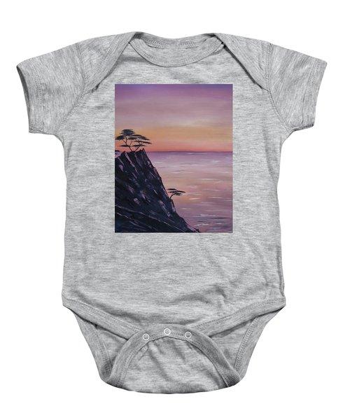 Rocky Sunset Baby Onesie