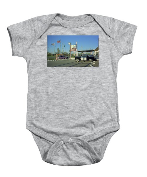 Baby Onesie featuring the photograph Route 66 - Anns Chicken Fry House by Frank Romeo