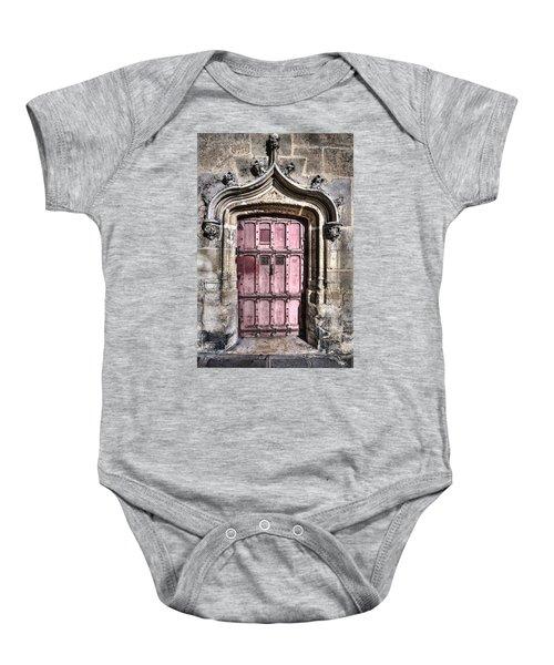 Ruins With Red Door Baby Onesie