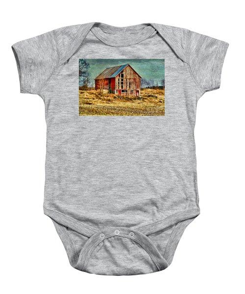 Rural Rustic Vermont Scene Baby Onesie