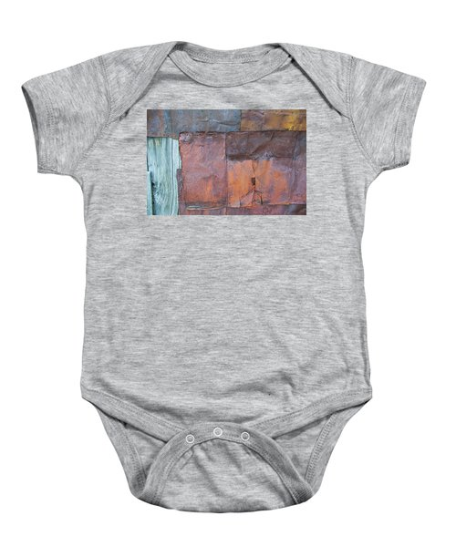 Rust Squared Baby Onesie