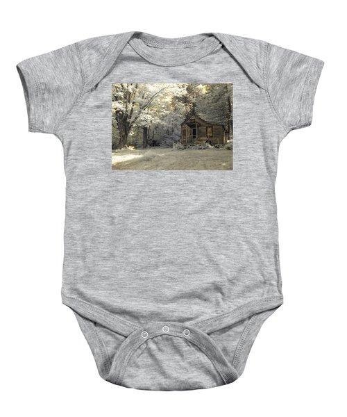 Rustic Cabin Baby Onesie