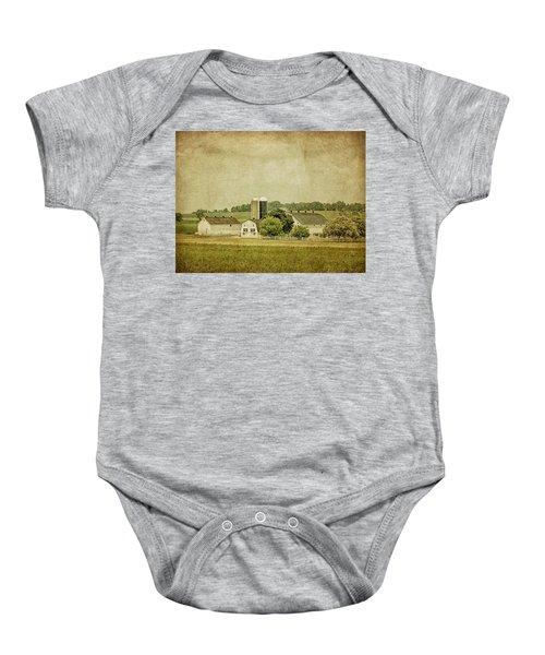 Rustic Farm - Barn Baby Onesie