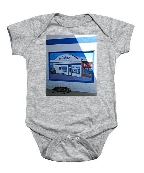 S And W Tire Service Mural Baby Onesie