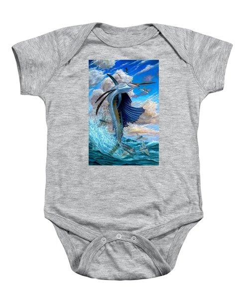 Sailfish And Flying Fish Baby Onesie