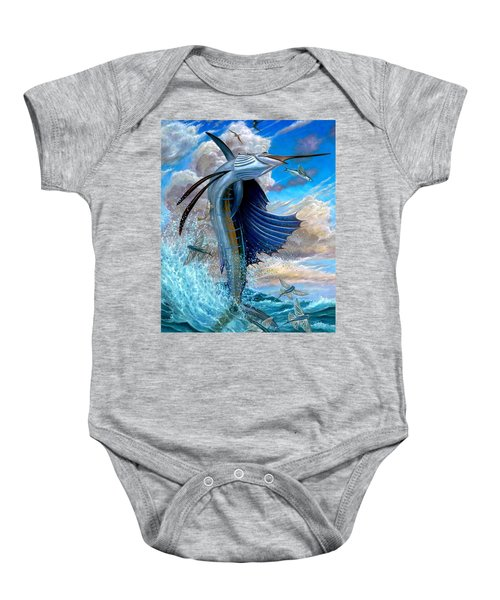 Sailfish And Flying Fish Baby Onesie
