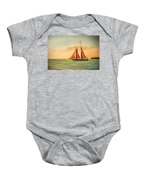 Sailing Into The Sun Baby Onesie