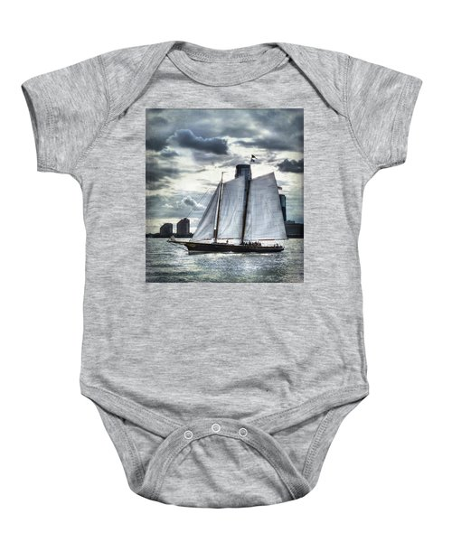 Sailing On The Hudson Baby Onesie