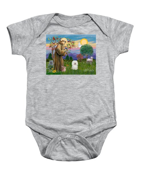 Saint Francis Blesses A Bolognese Baby Onesie