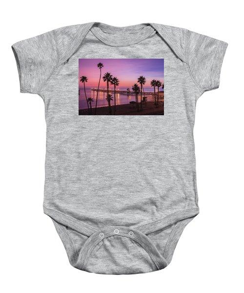 San Clemente Sunset Meditation Baby Onesie