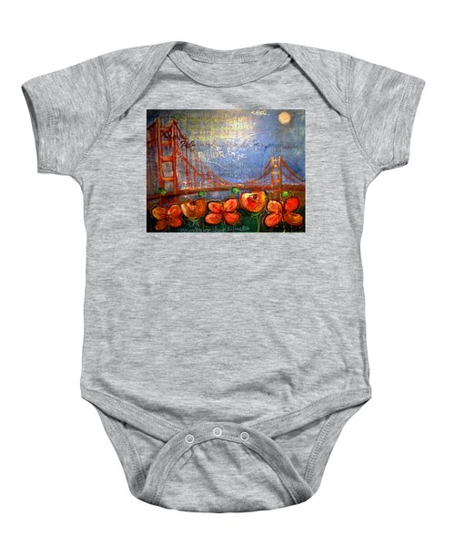 San Francisco Poppies For Lls Baby Onesie