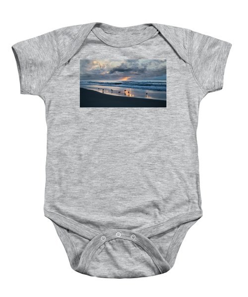 Sandpipers In Paradise Baby Onesie by Betsy Knapp