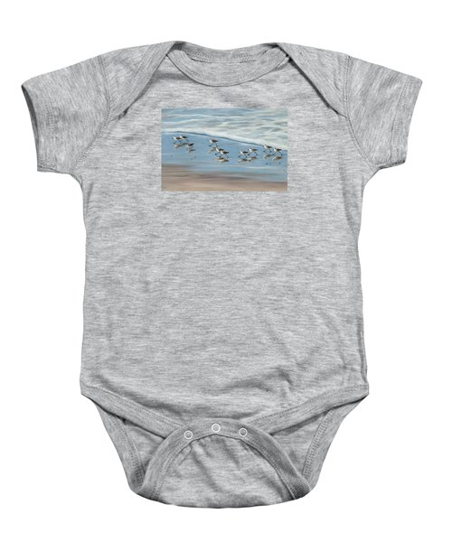 Sandpipers Baby Onesie by Tina Obrien
