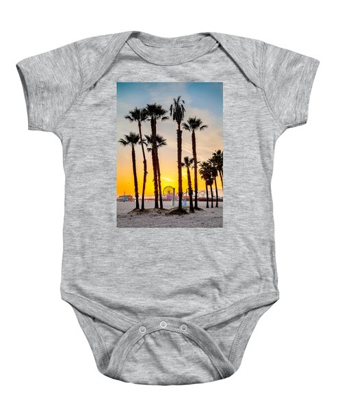 Santa Monica Palms Baby Onesie