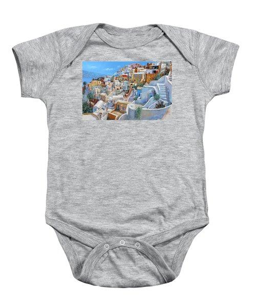 Santorini A Colori Baby Onesie