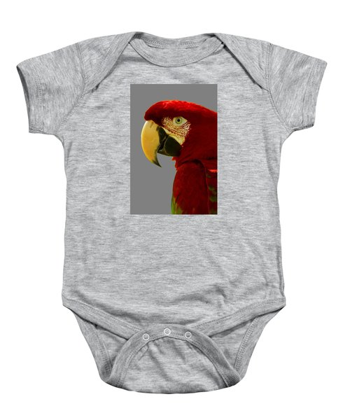 Baby Onesie featuring the photograph Scarlet Macaw by Bill Barber