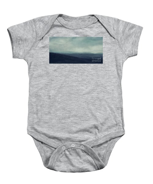 Sea Of Trees And Hills Baby Onesie