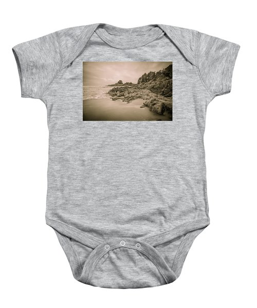 Cox Bay Sepia Baby Onesie