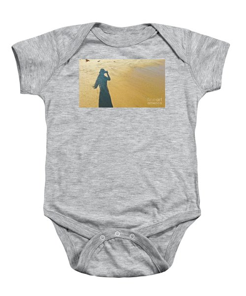 Shadow And Sand Raw Baby Onesie