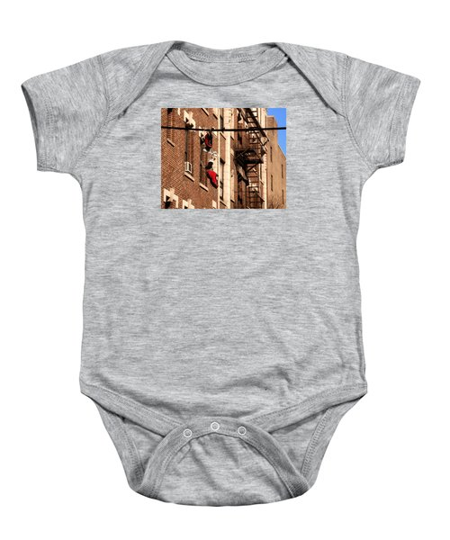 Shoes Hanging Baby Onesie