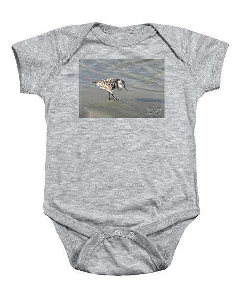Shore Bird On Ocean Beach Baby Onesie