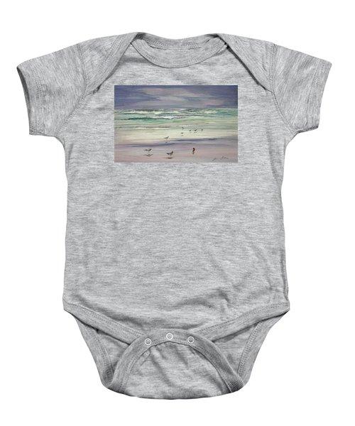 Shoreline Birds IIi Baby Onesie