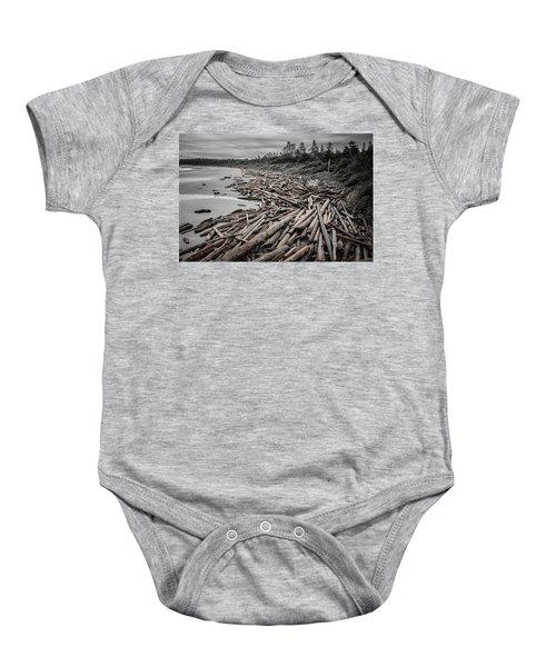 Shoved Ashore Driftwood  Baby Onesie