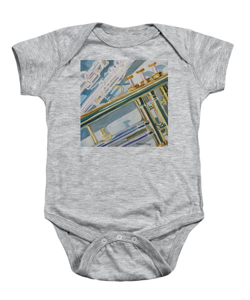 Silver And Brass Keys Baby Onesie