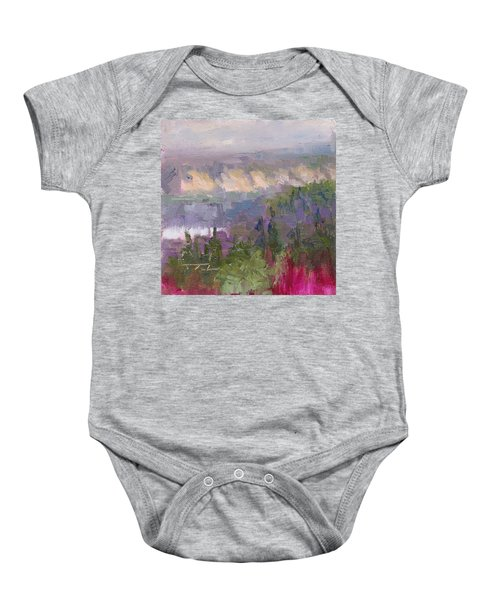 Silver And Gold - Matanuska Canyon Cliffs River Fireweed Baby Onesie