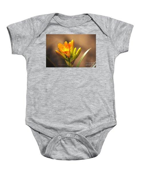 Single Kaffir Lily Bloom Baby Onesie