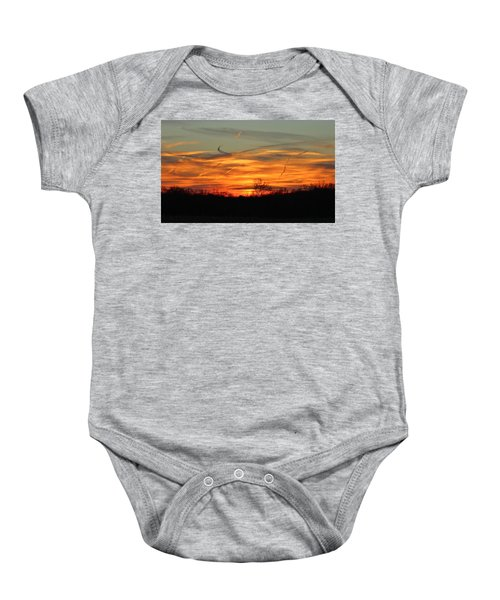 Sky At Sunset Baby Onesie