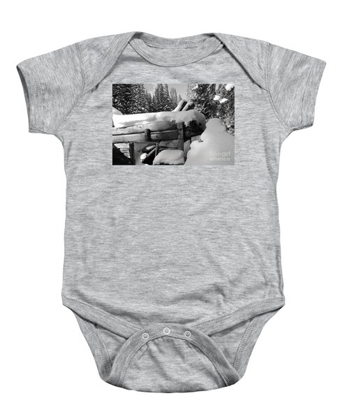 Snow Covered History Baby Onesie