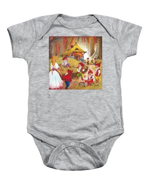 Snow White And The Seven Dwarfs Baby Onesie