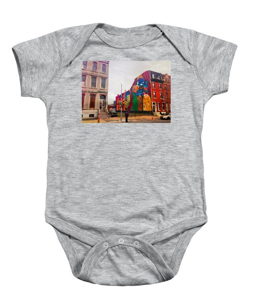 Some Color In Philly Baby Onesie