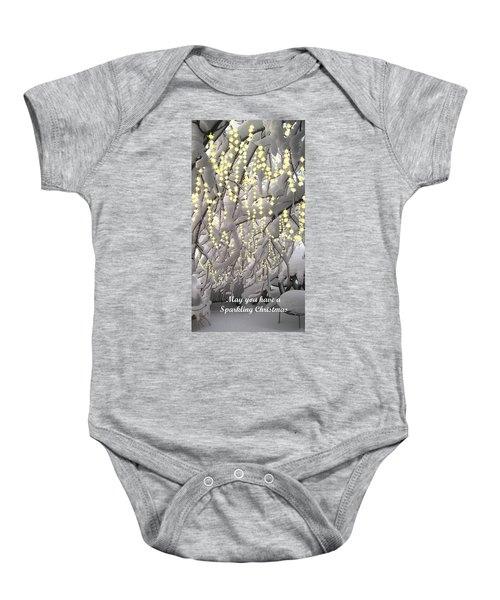 Sparkling Christmas Baby Onesie