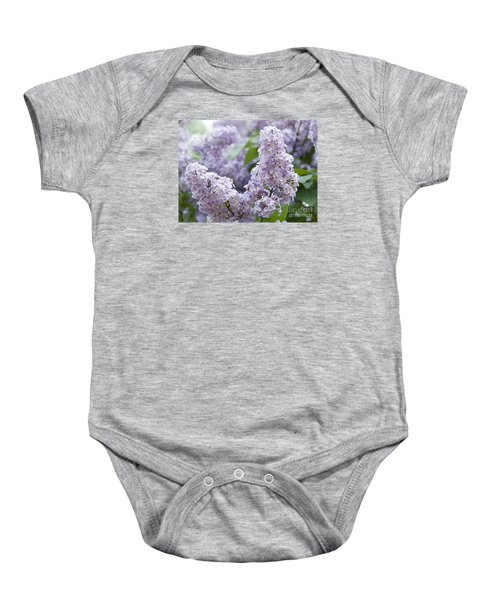 Spring Lilacs In Bloom Baby Onesie