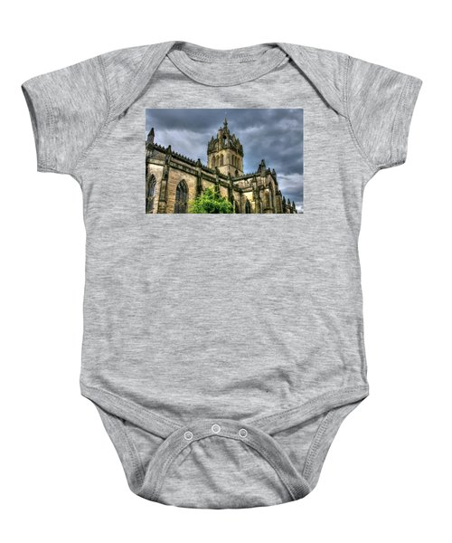 St Giles And Tree Baby Onesie