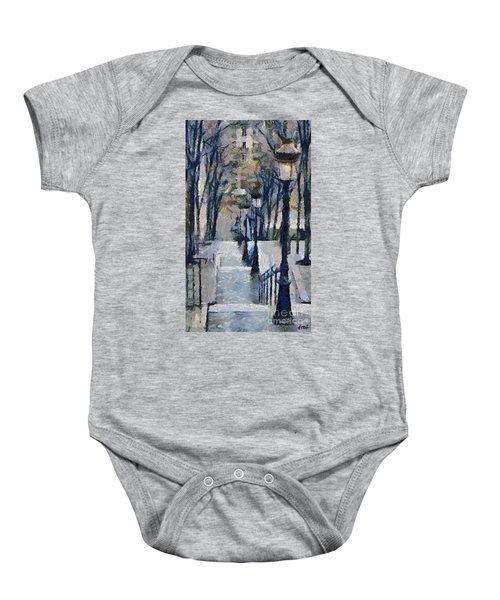Stairs With Lamps Baby Onesie