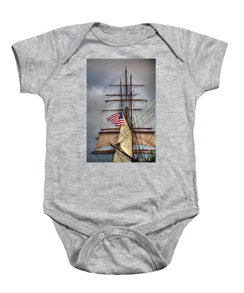 Star Of India Stars And Stripes Baby Onesie