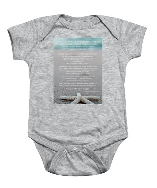 Starfish Make A Difference  Baby Onesie