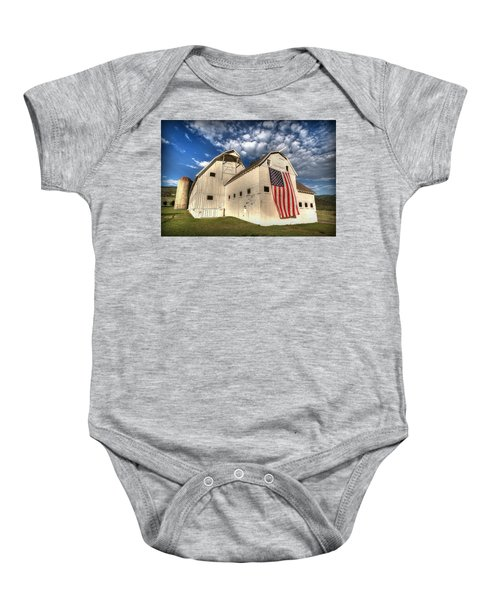 Stars And Stripes Baby Onesie