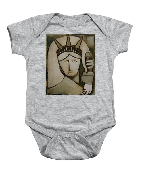 Tommervik Abstract Statue Of Liberty Art Print Baby Onesie