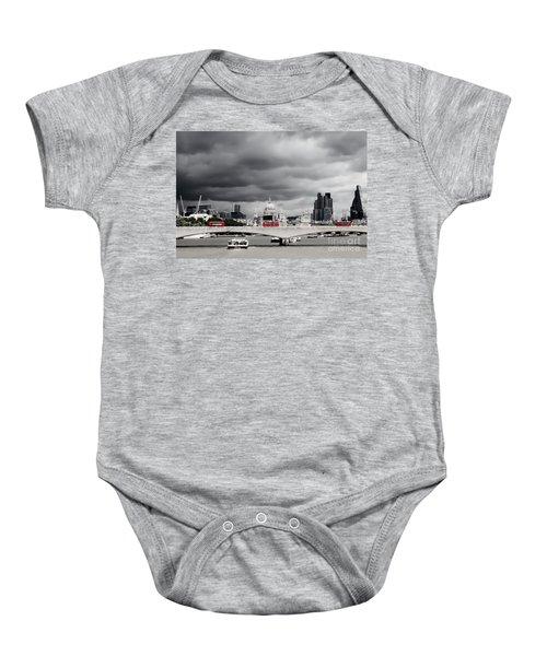 Stormy Skies Over London Baby Onesie