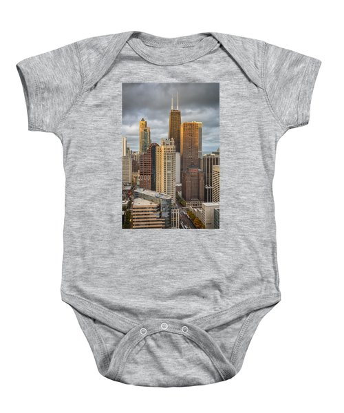 Streeterville From Above Baby Onesie by Adam Romanowicz