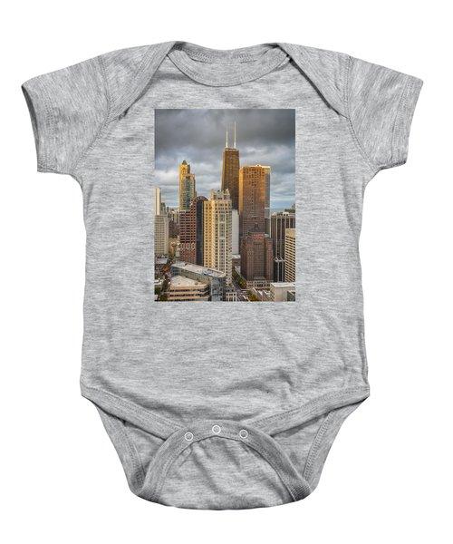Streeterville From Above Baby Onesie